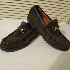 GUCCI ~ BROWN LOAFERS ~ 8.5 ~ HORSE BIT ~ CLASSIC!